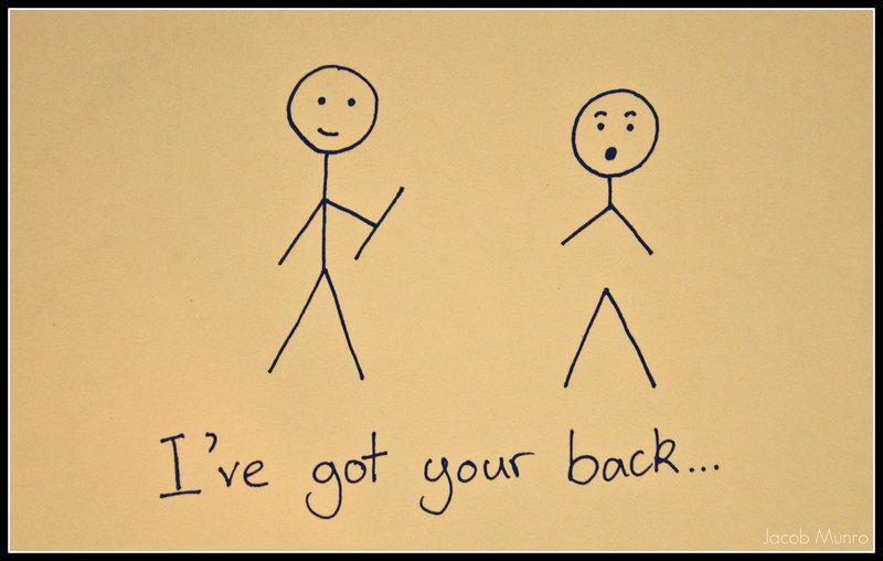 Image showing Jeg har din ryg