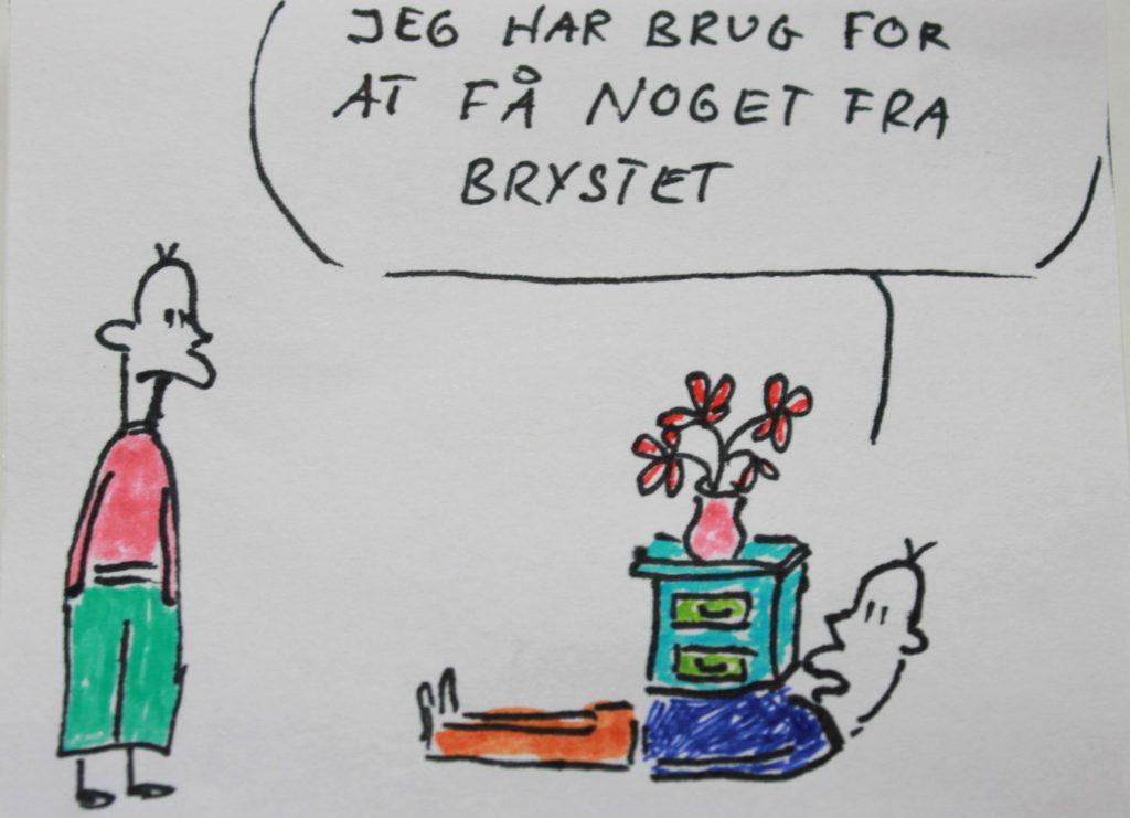 Image showing Få noget fra brystet
